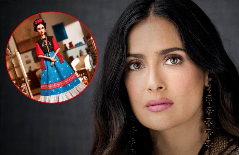 Salma Hayek rechaza la nueva Barbie de Frida Kahlo #FOTO