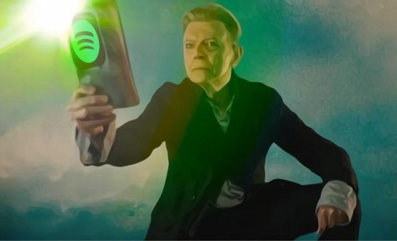 La primera vez que usé Spotify escuchando a David Bowie