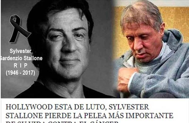 'Muerte' de Sylvester Stallone causa conmoción en redes sociales #FOTO
