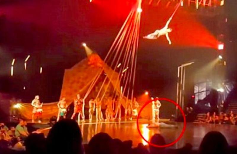 Acróbata de Cirque du Soleil muere trágicamente tras caer en pleno escenario #VIDEO