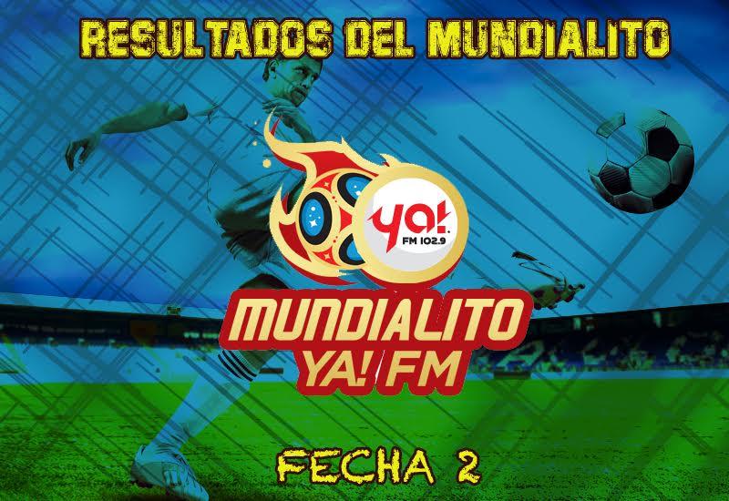 Resultados de Jornada 2 del Mundialito de Ya! FM