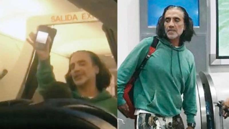 Alejandro Fernández siembra el pánico en avión por exceso de alcohol #FOTOS