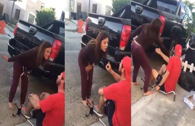 Mujer golpea a hombre discapacitado y presume sus propiedades; ahora la llaman #LadyDepartamentos