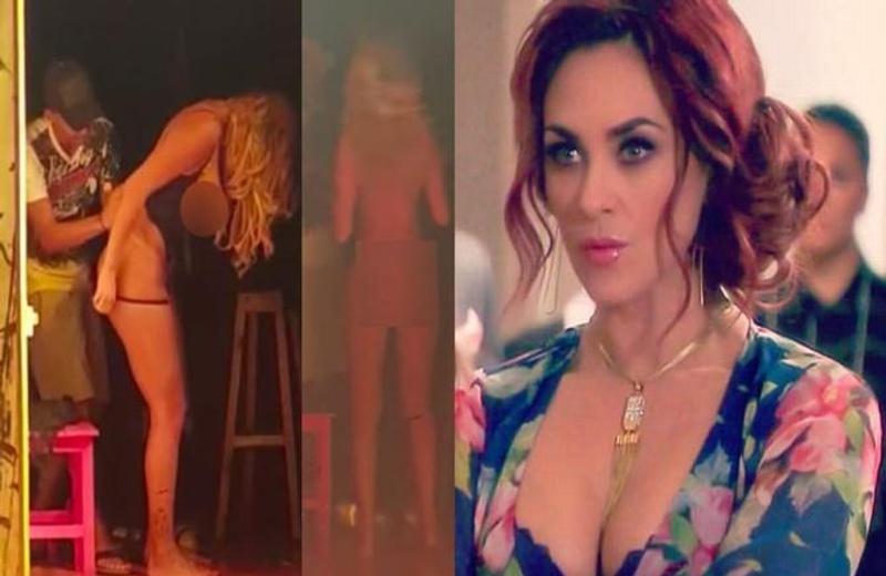 Filtran supuesto video de Aracely  Arámbula ¡semidesnuda tras bambalinas! #VIDEO