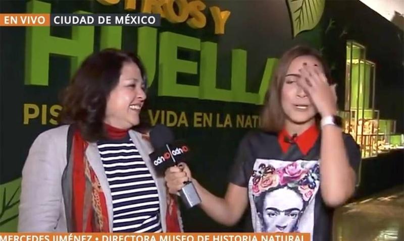 ¡La traicionó el subconsciente! El bochornoso error de una reportera en plena entrevista #VIDEO