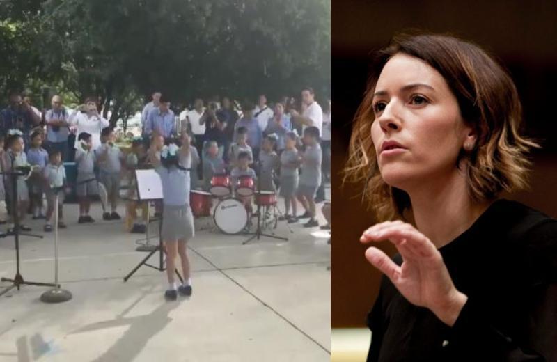 Niña directora de orquesta conoce a su ídola #VIDEO