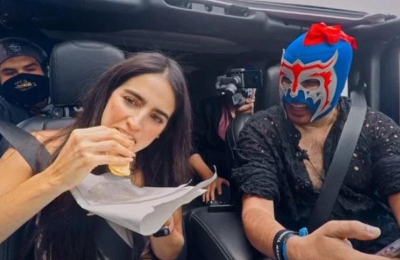 Bárbara de Regil acepta el reto del 'Escorpión Dorado' de comer tacos grasosos #VIDEO