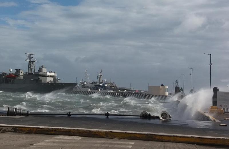 Agarren sus chones, que entrará norte a Veracruz