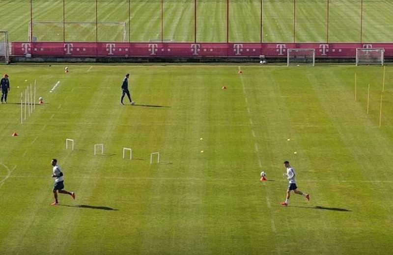 Bayern regresó a entrenar en sus instalaciones