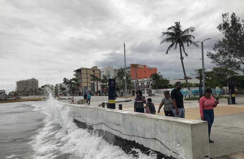 Hoy sábado se prevén vientos del norte de hasta 70 km/h en Veracruz