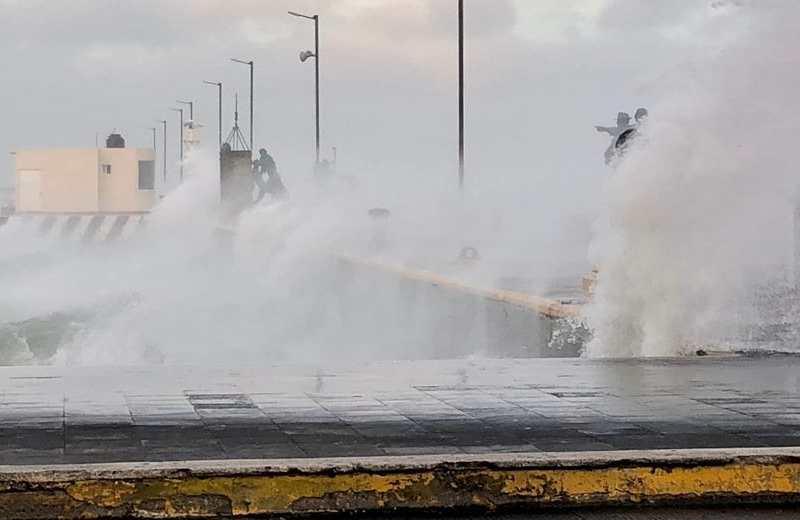 Hoy miércoles continúa el norte en Veracruz con rachas de 75 a 80 km/hora
