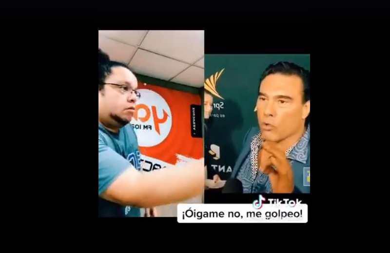 Famoso actor cachetea a locutor de Ya! FM (+video)