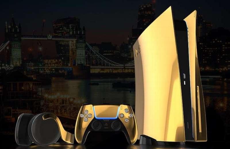 Harán una edición del PS5 bañado en oro de 24 kilates