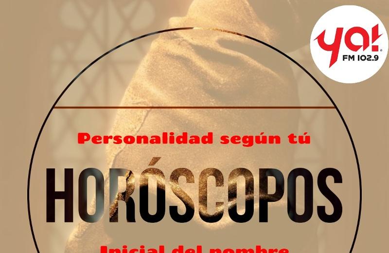 Horóscopos: Tú personalidad según tú inicial