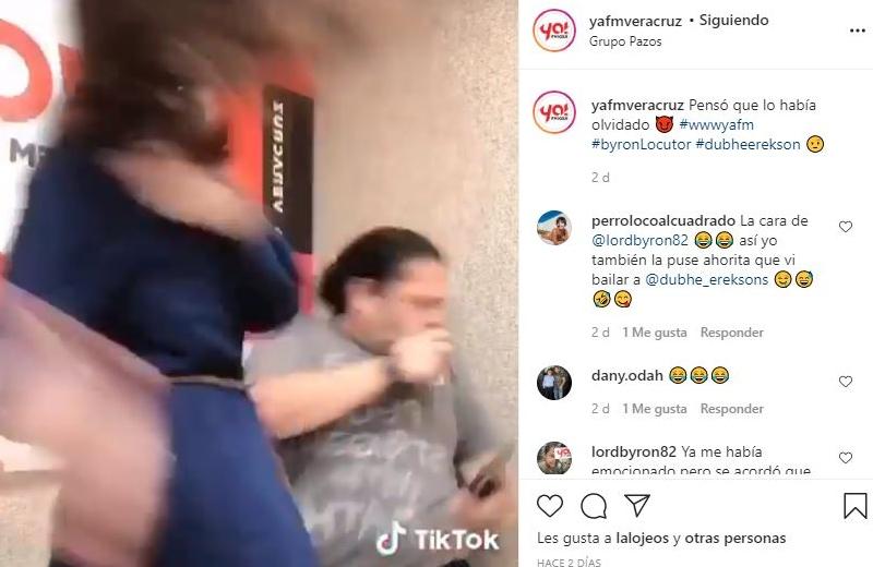 Dubhé le baila a Byron y mira en que termina(+video)