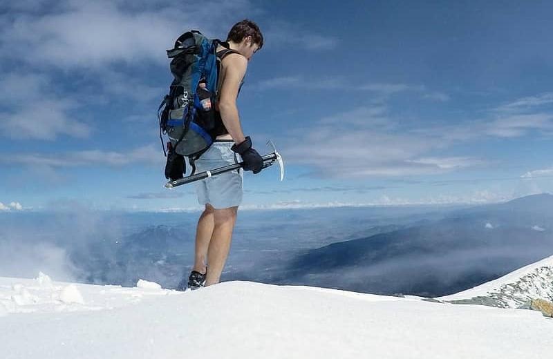 Él es David Villarreal y vivirá un mes en la cima del Pico de Orizaba (+fotos/videos)