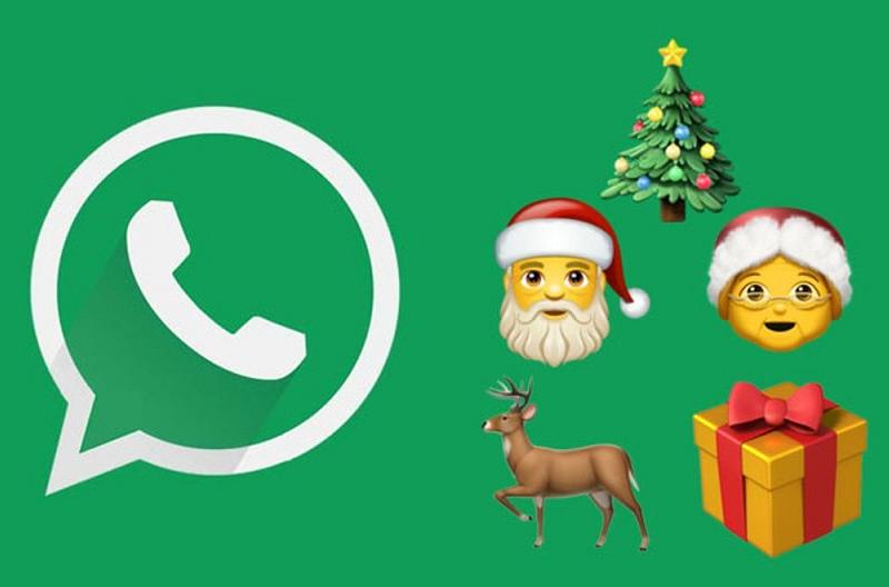 WhatsApp tendrá más de 100 nuevos emojis para celebrar Navidad