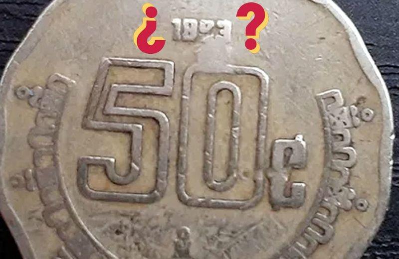 Moneda de 50 centavos se vende en más de 3 mil pesos
