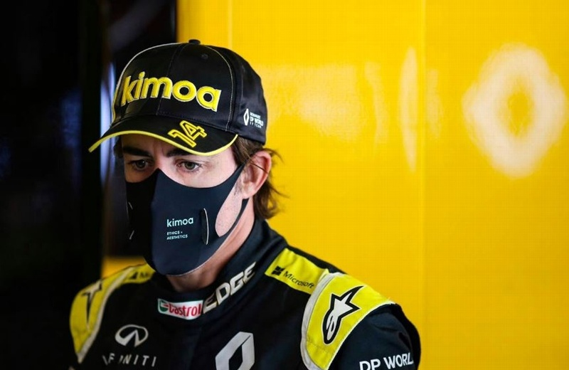 Fernando Alonso con fractura de mandíbula tras ser atropellado