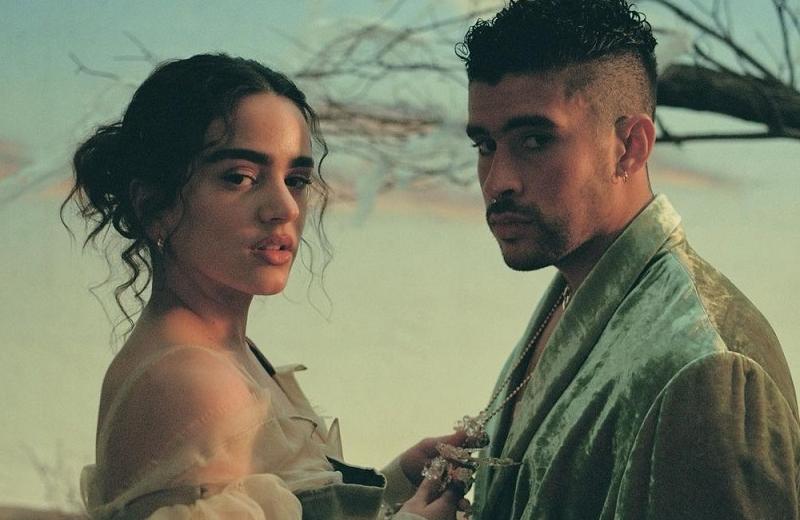 Rosalía y Bad Bunny están en llamas en el video de 'La noche de anoche'