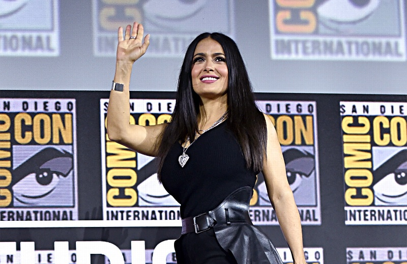Salma Hayek revela nuevas imágenes de 'The Eternals' de Marvel