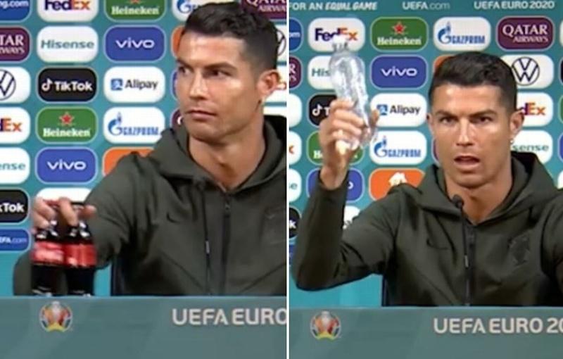 Gesto viral de Cristiano Ronaldo hace perder millones a compañía de refresco (+video)