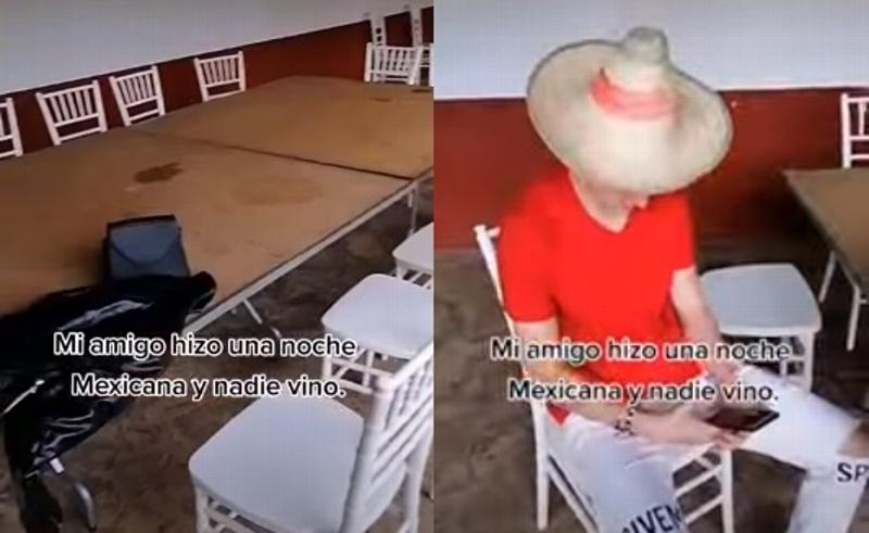 #Viral: Joven organiza fiesta mexicana y nadie va (+video)