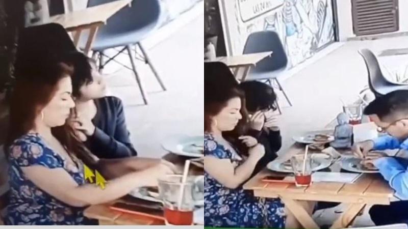 Una familia pone cabello en su comida para no pagar la cuenta (+video)