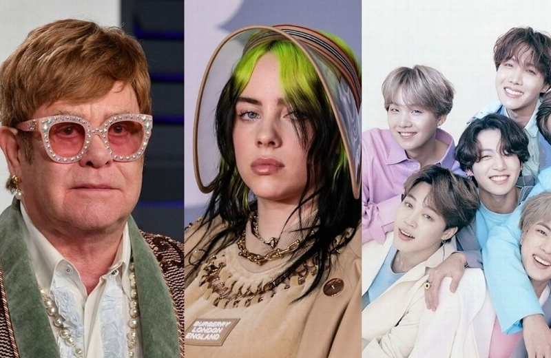 Elton John, Billie Eilish y BTS juntos en concierto por el planeta
