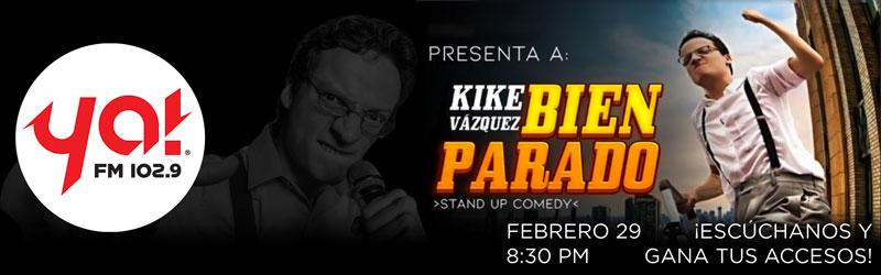 Kike Vazquez en su show de Stand Up